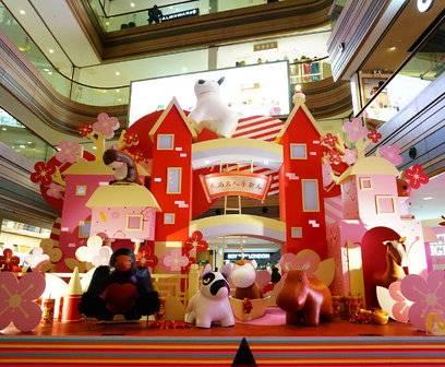 弘基名人购物广场新年美陈(5)